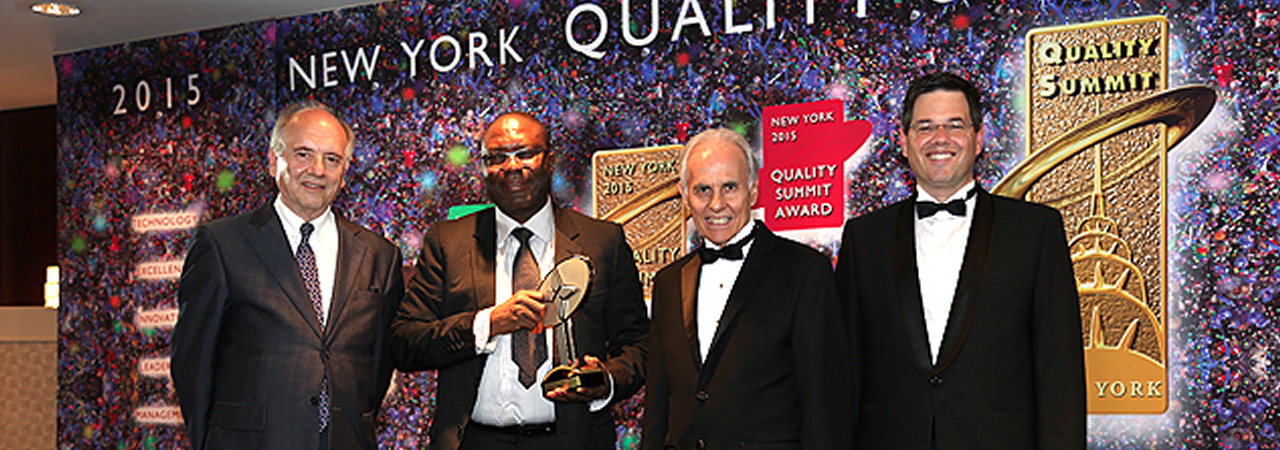 Integrated Advanced Analysts Associates Limited, from Nigeria, winner of the BID International Quality Summit Award in New York 2015